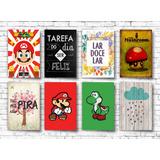 20 Placa Decorativas Pvc 13x20 Frases Games - Frete Gratis