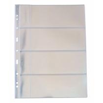 Folha Plastico Cédula Acetato Pccb 4 Divisões C/bolso (53118