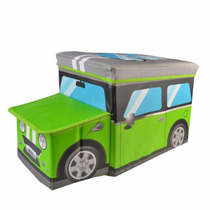 Caixa Organizadora Puff Bau Infantil Porta Brinquedos Treco