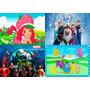 Painel De Decoração 2,4x1,3,vários Temas, Frozen, Minnie Etc