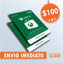 Microsoft Gift Card 100 Reais Cartão Presente Xbox Live Br