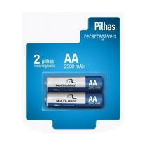 Original Pilha Bateria Recarregavel 2500mah Multilaser 2x Un