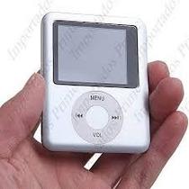 Mp4 Mp3 Vídeos Slim + Cartão Micro Sd 16 Gb + Frete Grátis