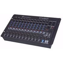 Mesa Som Mixer Starmix Ll Sa1202d 12 Canais Efeito Estéreo