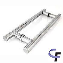 Puxador H Aluminio 100cm X 80cm - Porta De Madeira