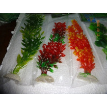 Plantas Artificiais Para Aquários Com Base Pacote P.m.g