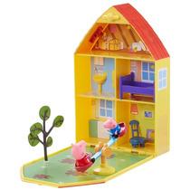 Peppa Pig - Casa Com Jardim Da Peppa - Dtc