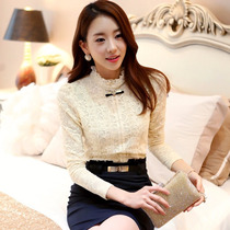 Camisa Social Feminina Importada Em Renda Floral Clayns N165