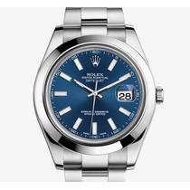 Relógio Qualidade Superior Modelo Datejust Azul