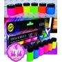Kit Tinta Nature Colors Neon 6 Cores - Acrilex