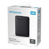 Hd Externo Portátil Wd Elements 1tb Usb 3.0 Lacrado C/ Nota