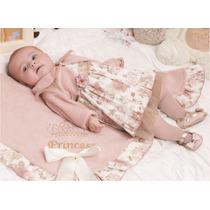Saída De Maternidade Menina Delicada Floral 4 Peças Fofinho