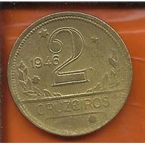 Moeda Brasil 2 Cruzeiros Ano 1946 Bronze-alumínio 25mm