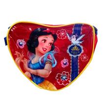 Bolsa Infantil Disney Modelo Branc Coração, Mochila Infantil