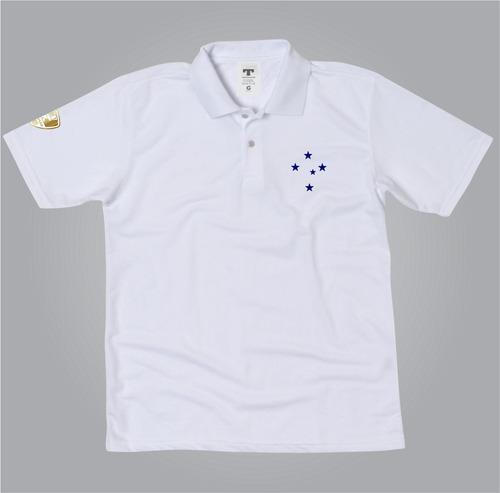 Camisa Polo Cruzeiro Azul Ou Branco Blusa Do Cruzeiro Polo - R  54 ... c2ed16188dcb9