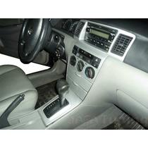 Kit Painel Aço Escovado Toyota Corolla 03/07 Painelkit