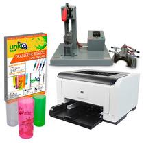 Maquina Acrílica+impressora A Laser+papel Transfer Rigido