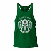 Camiseta Regata Super Cavada P/ Musculação Div Modelos Royal