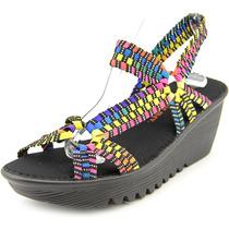 Bernie Mev. Mulheres Cristal Canvas Platform Sandal