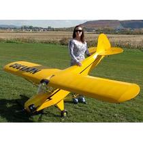 Planta Aero Piper J3 Balsa Envergadura 1/4 - Frete Gratis
