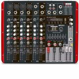 Mesa De Som Amplificada 8 Canais 600w Rms Nvk 800p Novik -nf