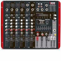 Mesa De Som Amplificada 8 Canais 600w Rms Nvk-800p Novik -nf