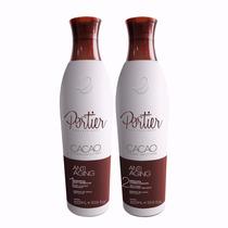 Kit Portier Fine Cacao Escova Progressiva + Brinde