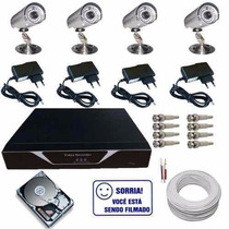 Kit Monitoramento 4 Câmeras Day/night Com Dvr Luxvision
