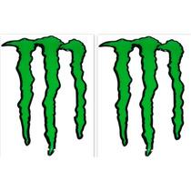 Kit Adesivo Resinado Monster Gg Verde Borda Preta