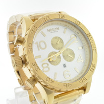 Relógio Nixon Dourado Branco Men´s 51-30+sedex Grátis+garant