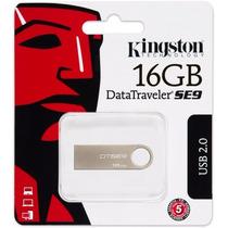 1 Pendrive 16gb Kingston Data Traveler Se9 Original