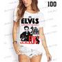 Camiseta Elvis Presley King Of Rock Fashion Feminina