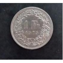 Moeda Suiça - 1 Franc - Um Franco - Ano 1975 - Frete R$ 6,00