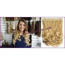 Mega Hair Cabelo Aplique Tic Tac Loiro Claro Dourado 60 Cm