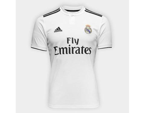 Nova Camisa Real Madrid Branca 2018 2019 adidas Lançamento. R  149.9 c0bcb4f8736ab