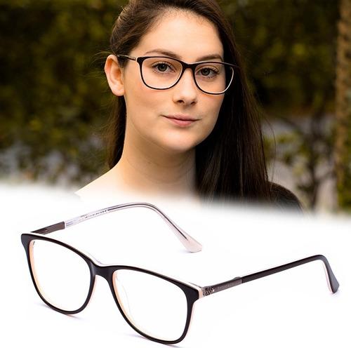 Armação Oculos Grau Feminino Importado Tf23 Acetato Original - R ... c9e1858bfb