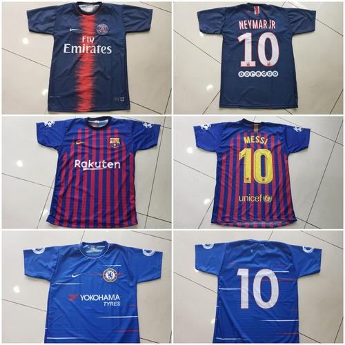 ece0e7162f Kit 10 Camisetas Time De Futebol - Nacionais / Europeus