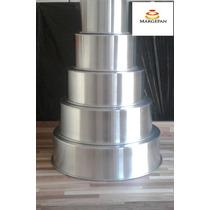 Conjunto De Formas Redondas Altas Kit 05 Peças Em Alumínio