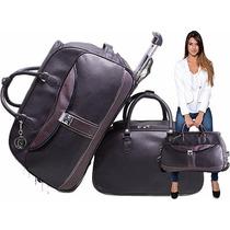 Mala De Viagem Feminina Com Rodinha Baseada Na Luiz Vuitton