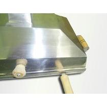 Churrasqueira Polida Bafo Alumínio 43x38 Cabo Na Grelha