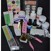 Kit Unha Acrigel, Gel E Porcelana + Tips+ Alicate + Primer
