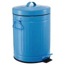 Lixeira Grace Azul Com Alças - 12 Litros - Em Ferro
