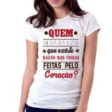 Camiseta Blusa Feminina Eduardo e Mônica Legião