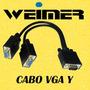 Cabo Vga Y Svga Db15 Duplicador De Sinal 1 Macho X 2 Femea