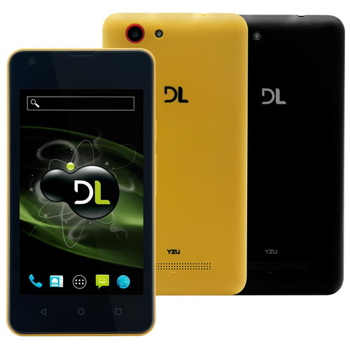 Smartphone Dl Yzu Ds42 Preto - Dual Chip, 3g, Tela 4.0