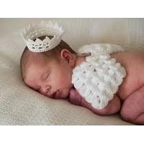 Assinha De Anjo E Coroa, Newborn, Fantasia, Recem Nascido