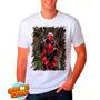 Camiseta Branca Deadpool Quadrinhos Hq Engraçada 371