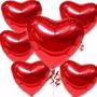 30 Baloes Metalizados 45cm Coração Estrela Helio Casamento