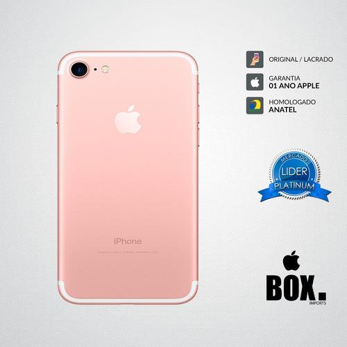6561e6af8 Iphone 7 32gb Rosa 12x S  Juros Lacrado Anatel + 2 Brindes. R  2939