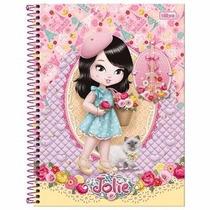 Caderno Jolie Paris 10 Matrias 240 Folhas Tilibra Modelo 02